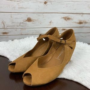 Jeffrey Campbell Havanna Last Brown Wedge shoe 8.5